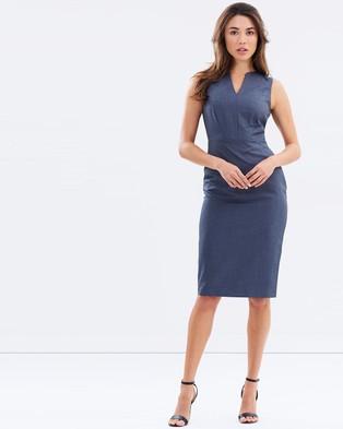 Dorothy Perkins – V Panel Pencil Dress Grey