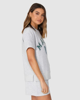 Madison The Label College Sweater Tee - T-Shirts & Singlets (Grey)
