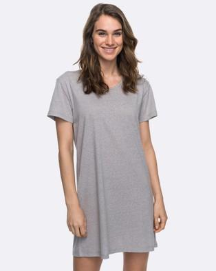 Roxy – Womens Just Simple Solid T Shirt Dress – Swimwear Heritage Heather