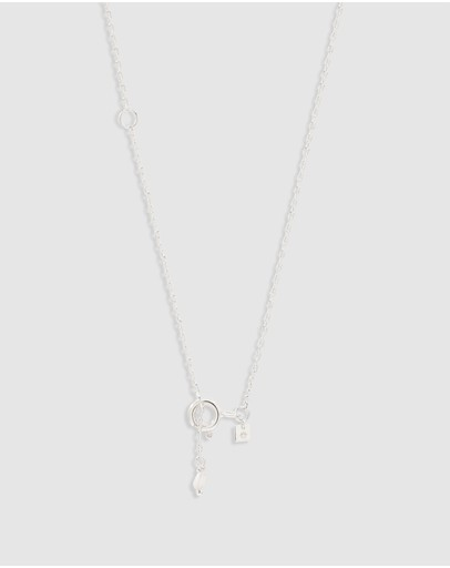 By Charlotte Silver Love C Necklace - Sterling 18 Inches