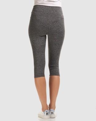 Soon Maternity Sage 3 4 Active Leggings - 3/4 Tights (Grey)
