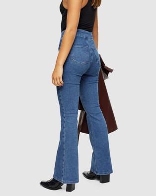 TOPSHOP Petite Petite Three Stretch Flare Skinny Jeans - High-Waisted (Mid Denim)