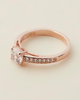 Swarovski Attract Ring - Jewellery (Cubic Zirconia & Rose Gold)