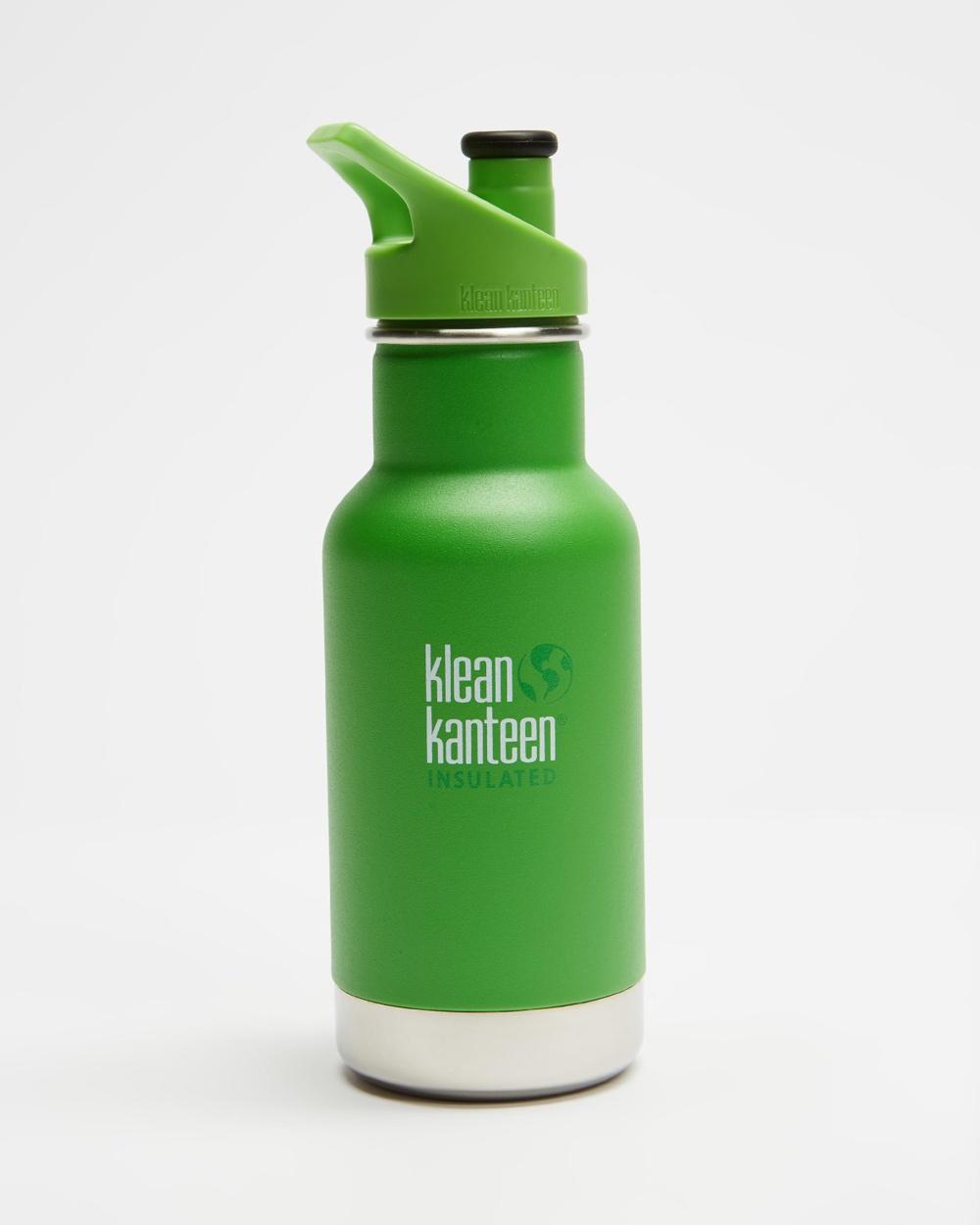 Klean Kanteen 12oz Insulated Classic Kids Sport Cap Bottle Running Lizard Tails