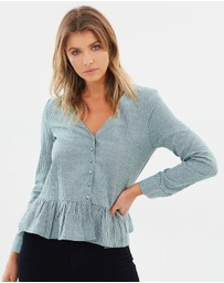 ICONIC EXCLUSIVE - Loriel Button Front Top