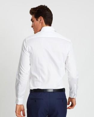 SABA Philip Long Sleeve Slim Shirt - Shirts & Polos (white)