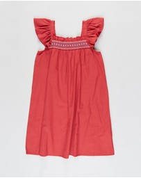 Cotton On Kids - Allie Flutter Sleeve Dress - Kids
