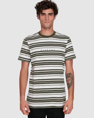 Element Gym Stripe Tee - T-Shirts & Singlets (ARMY)
