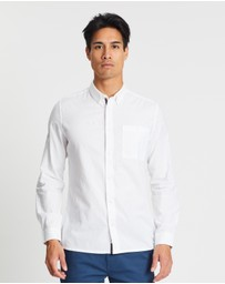 Burton Menswear - Long Sleeve Oxford Shirt