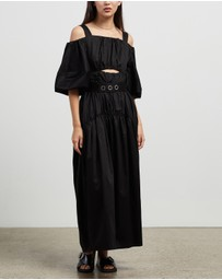 CAMILLA AND MARC - Tori Gathered Midi Dress