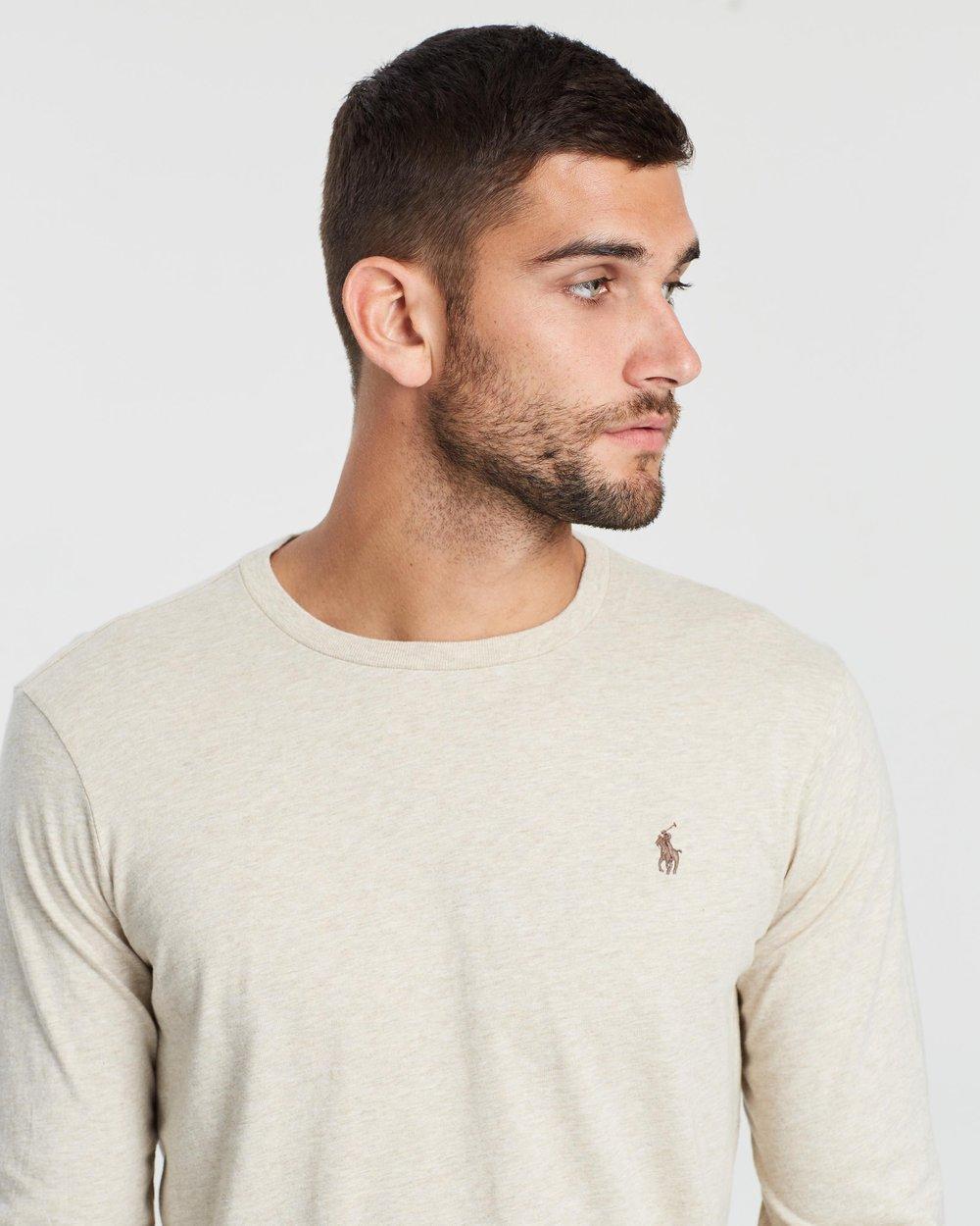 3077e79c7e3521 Custom Fit Long Sleeve T-Shirt by Polo Ralph Lauren Online