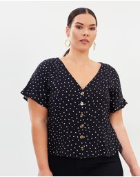 Atmos&Here Curvy - Brodie Button Front Top