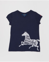 Polo Ralph Lauren - Cotton Jersey Graphic SS Tee - Kids
