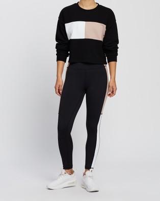 All Fenix Heidi Block Sweater Crew Necks Black, White & Nude