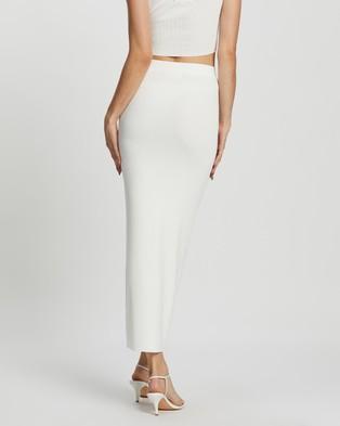 Dazie Girl Meets Boy Maxi Tube Skirt - Skirts (Off White)