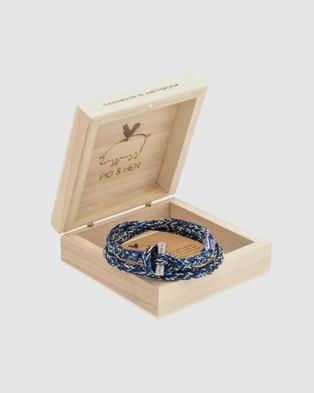 PIG&HEN Tiny Jewellery Navy-Ivory-Violet
