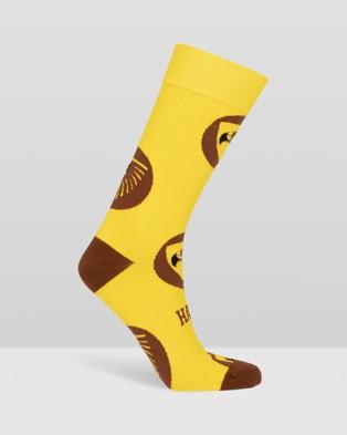 Foot-ies - Essendon Bombers Socks 3 Pack Gift Box   AFL x Foot ies - Crew Socks (Hawthorn Hawks Gold) Essendon Bombers Socks 3-Pack Gift Box - AFL x Foot-ies