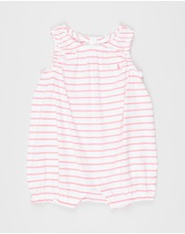 Polo Ralph Lauren - Stripe Jersey One-Piece Shortall - Babies