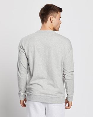 Calvin Klein Basic Long Sleeve Sweatshirt   Men's - Sweats (Grey)