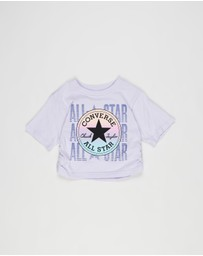 Converse - Ruched Boxy Ombre T-Shirt - Kids