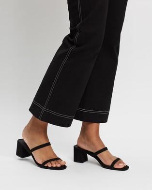 SPURR - Ruth Heels - Mid-low heels (Black Microsuede) Ruth Heels