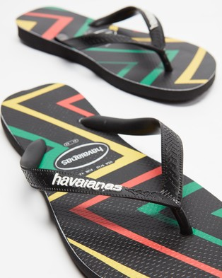 Havaianas Top Zig Zag   Unisex - All thongs (Black & Black)