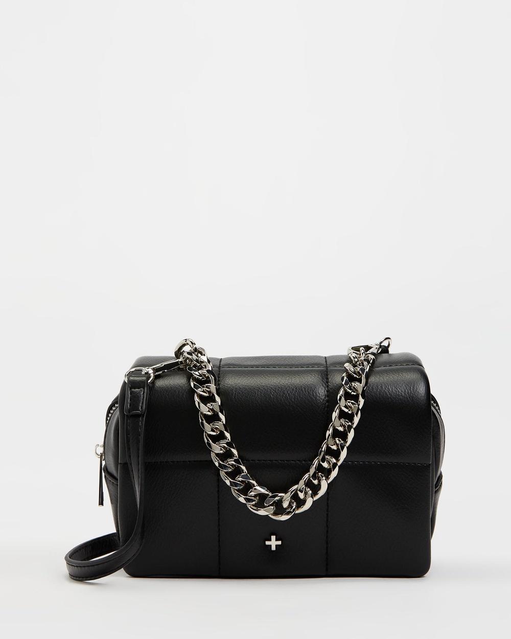 PETA AND JAIN Carter Cross Body Bag Bags Black & Silver Cross-Body