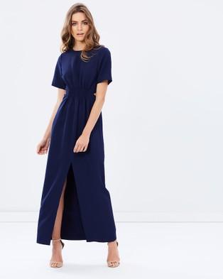 Friend of Audrey – Modern Wanderer Midi Dress – Bridesmaid Dresses (Navy)