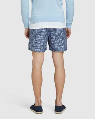 Oxford Reece Swim Board Shorts - Swimwear (Blue)