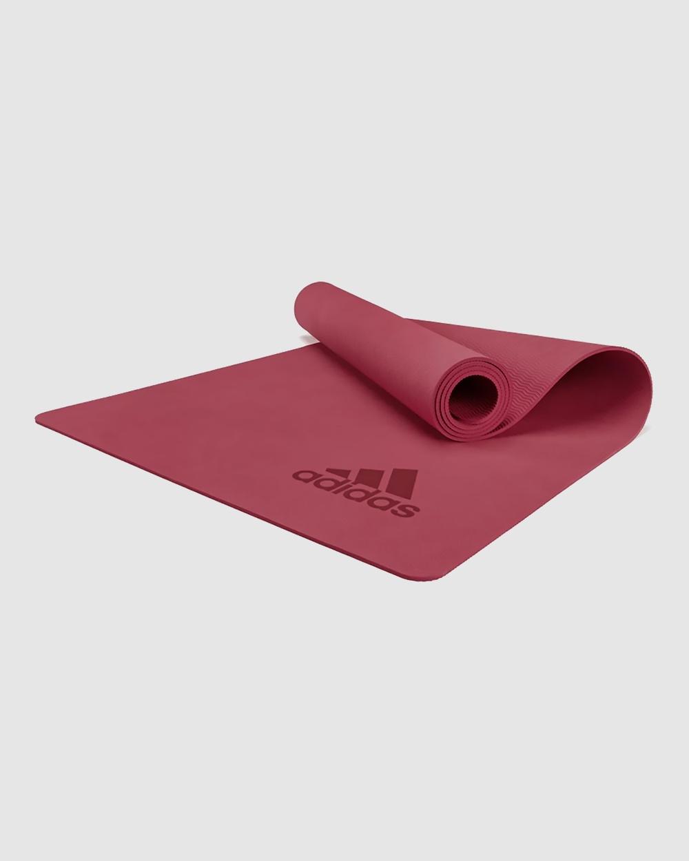 adidas Performance Adidas Premium Yoga Mat Training Equipment Red