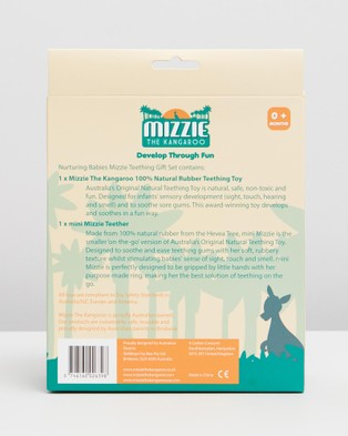 Mizzie The Kangaroo Nurturing Babies Mizzie Teething Gift Set - All toys (Nurturing Babies Mizzie Teething GS)