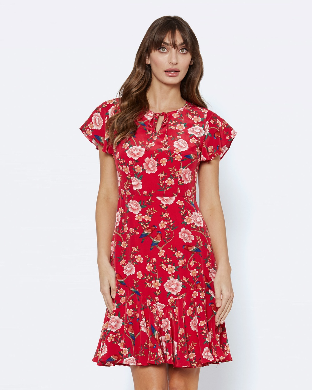 Alannah Hill Her Own Wings Dress Printed Dresses Red Her Own Wings Dress