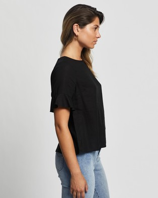 Atmos&Here Alice Linen Blend Top - Tops (Black)