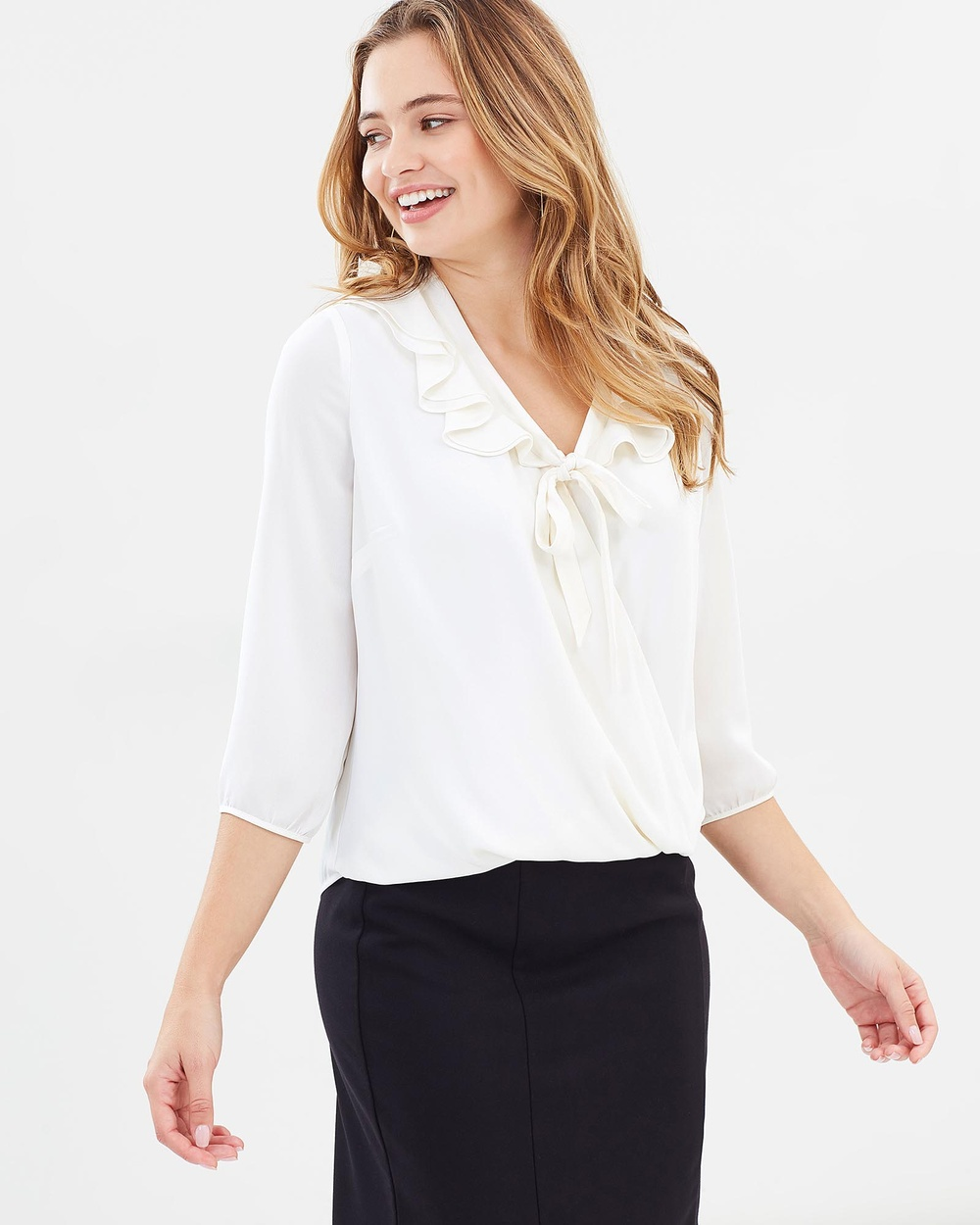 Review Jessalyn Blouse Tops Cream Jessalyn Blouse