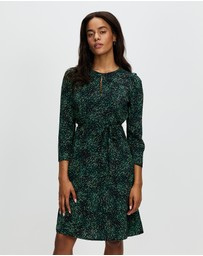 Marcs - Green Animalia Georgette Dress