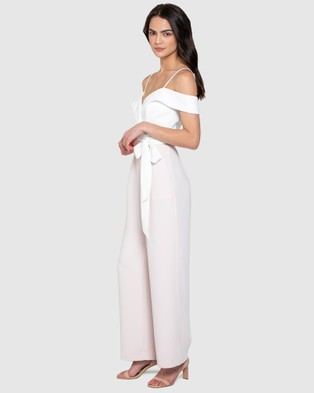 Forever New Seyda Off Shoulder Jumpsuit - Jumpsuits & Playsuits (Sugar Cream & Ivory)