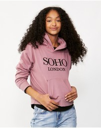 Decjuba Kids - Soho London Pocket Hoodie - Kids-Teens
