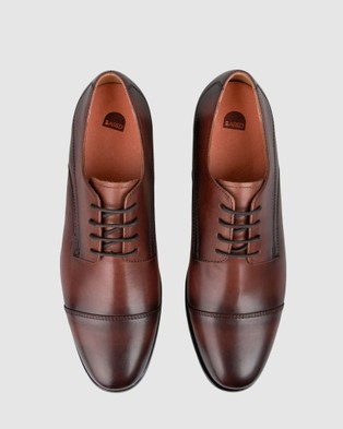 Bared Footwear Plutonium Lace ups   Men's - Dress Shoes (Dark Tan)