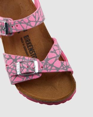 Birkenstock Rio Micro Fibre Reflective Narrow - Sandals (Pink)