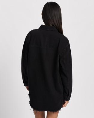 All About Eve Denim Shacket - Coats & Jackets (WASHED BLACK)
