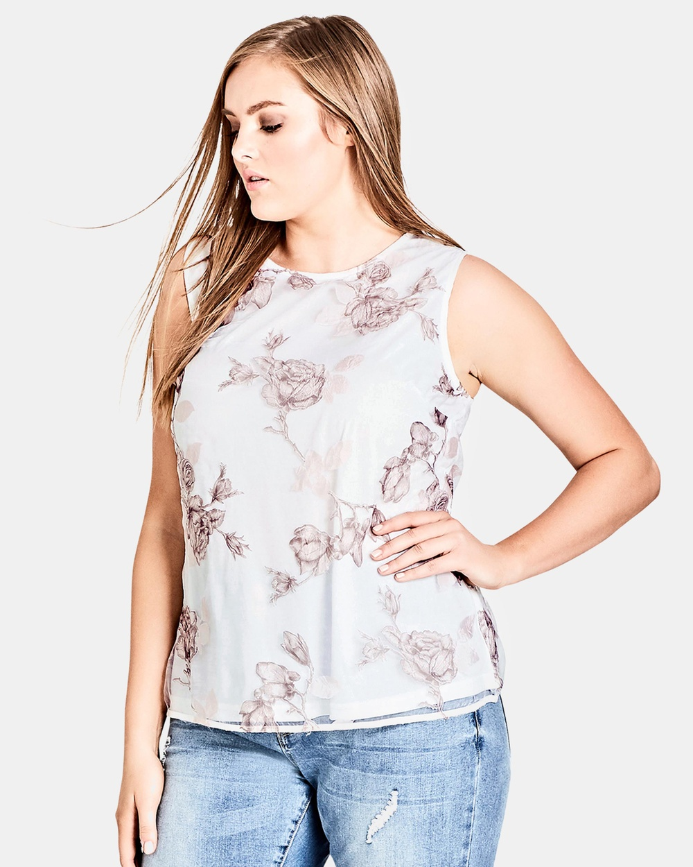 City Chic Devotion Top Tops Ivory Devotion Top