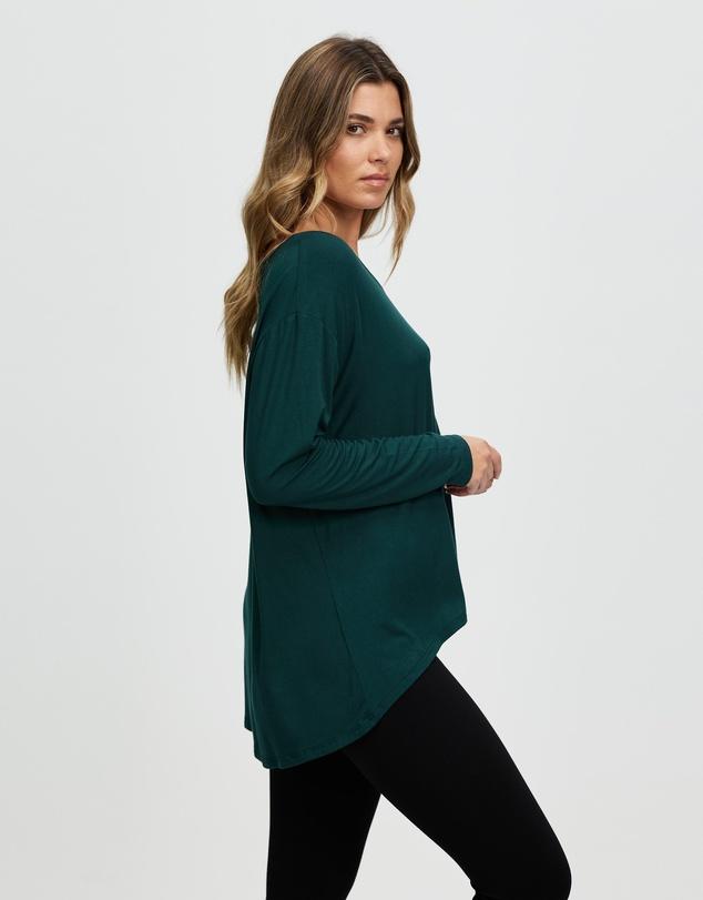 Women Anna High-Low Long Sleeve Tee