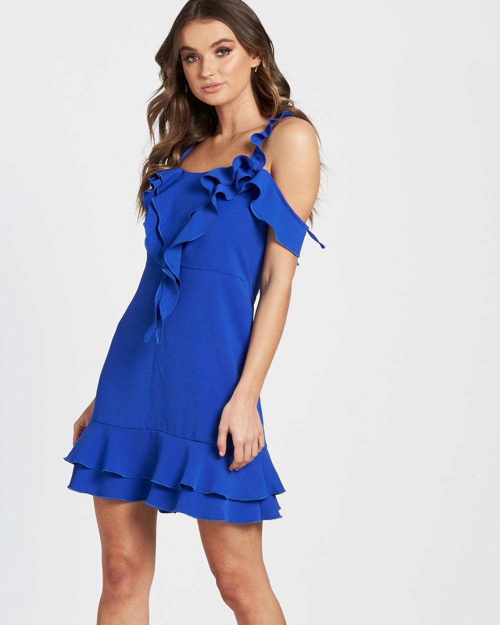 Lioness Pasadena Mini Dress Dresses Cobalt Blue Pasadena Mini Dress