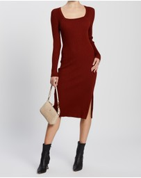 Forcast - Genie Square Neck Knit Dress