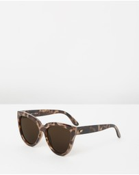 Le Specs - Liar Lair Brown Tort Cat Eye Sunglasses