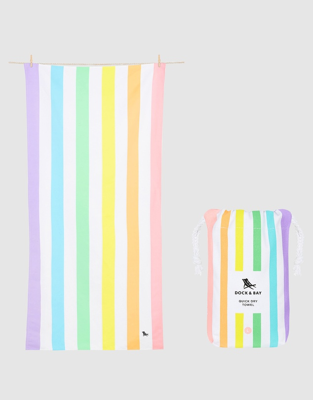Life Large Beach Towel 100% Recycled Summer Collection
