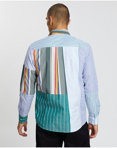 Soulland Over/out Alan Upcycled Patchwork Shirt Multi