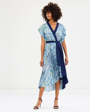 Ginger & Smart – Malala Wrap Dress – Printed Dresses Malala