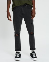 Abrand - A Dropped Skinny Turn Up Jeans