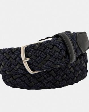 Buckle Monterey 35mm Belt - Belts (Black/Navy)